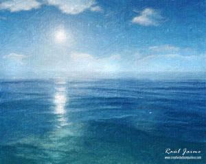 Oceano Pintura con Espatula 01